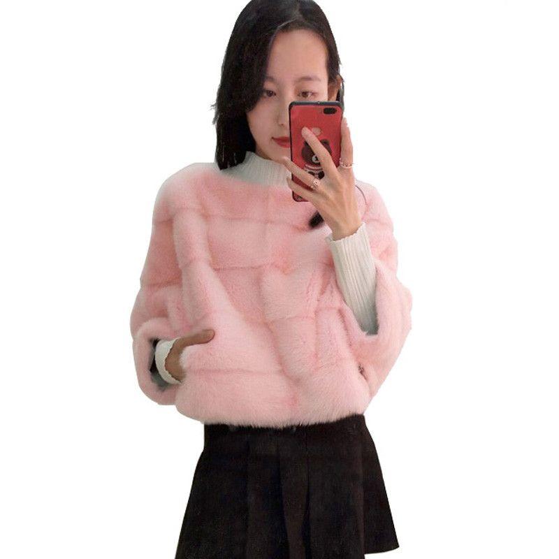 Frauen real nerz mantel kurzen absatz fledermaus shirt mode jacke kann verwendet werden mit rock