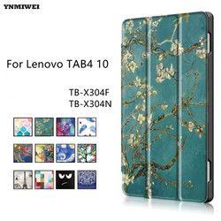 Флип чехол для Lenovo TAB4 10 Смарт кожаный чехол для Lenovo Tab 4 10 TB-X304F TB-X304N TB-X304L чехол для планшета + протектор