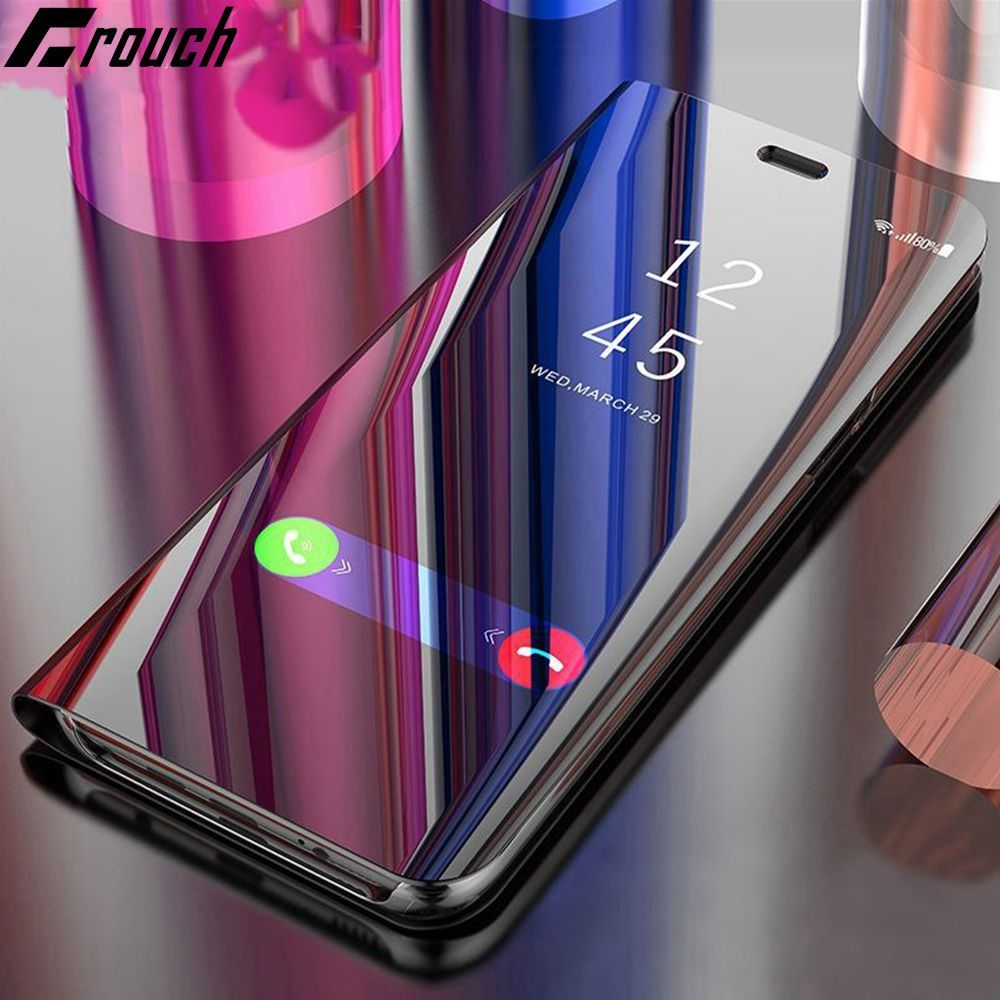 Flip Cover Leather Smart Chip Case For Samsung Galaxy S8 Plus S8 Note 8 G950F G955F N950F Phone Case Clear View Cover