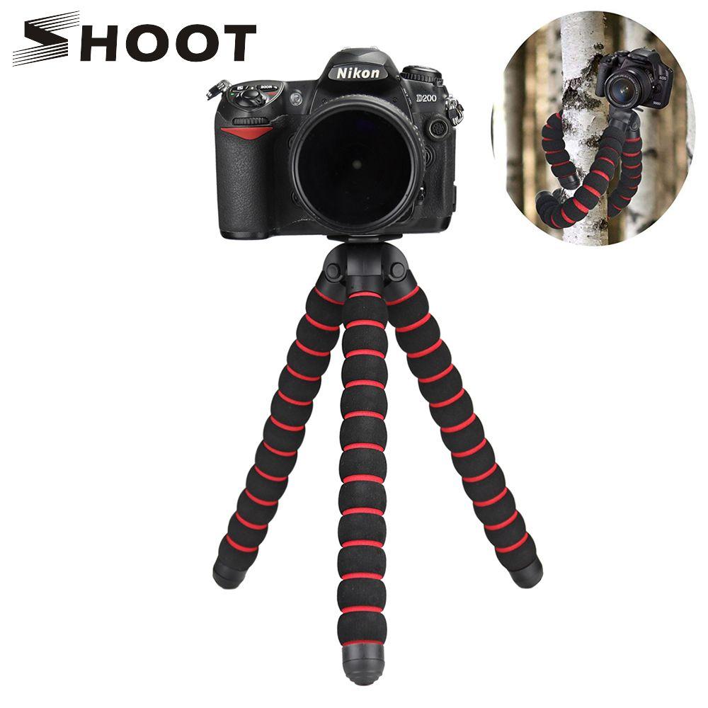 SHOOT Max taille trépied poulpe pour appareil photo DSLR Nikon d3300 d3200 d5300 d7200 Canon 600d 700d 5d 6d 70d SONY a7 FUJI tablette trépied