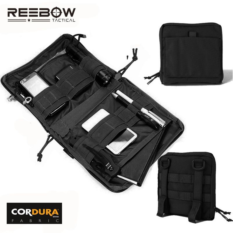 REEBOW TACTICAL Utility Molle EDC Pouch Outdoor Hunting Tool <font><b>Organizer</b></font> Hiking Camping Sport 1000D CORDURA Accessories Bag