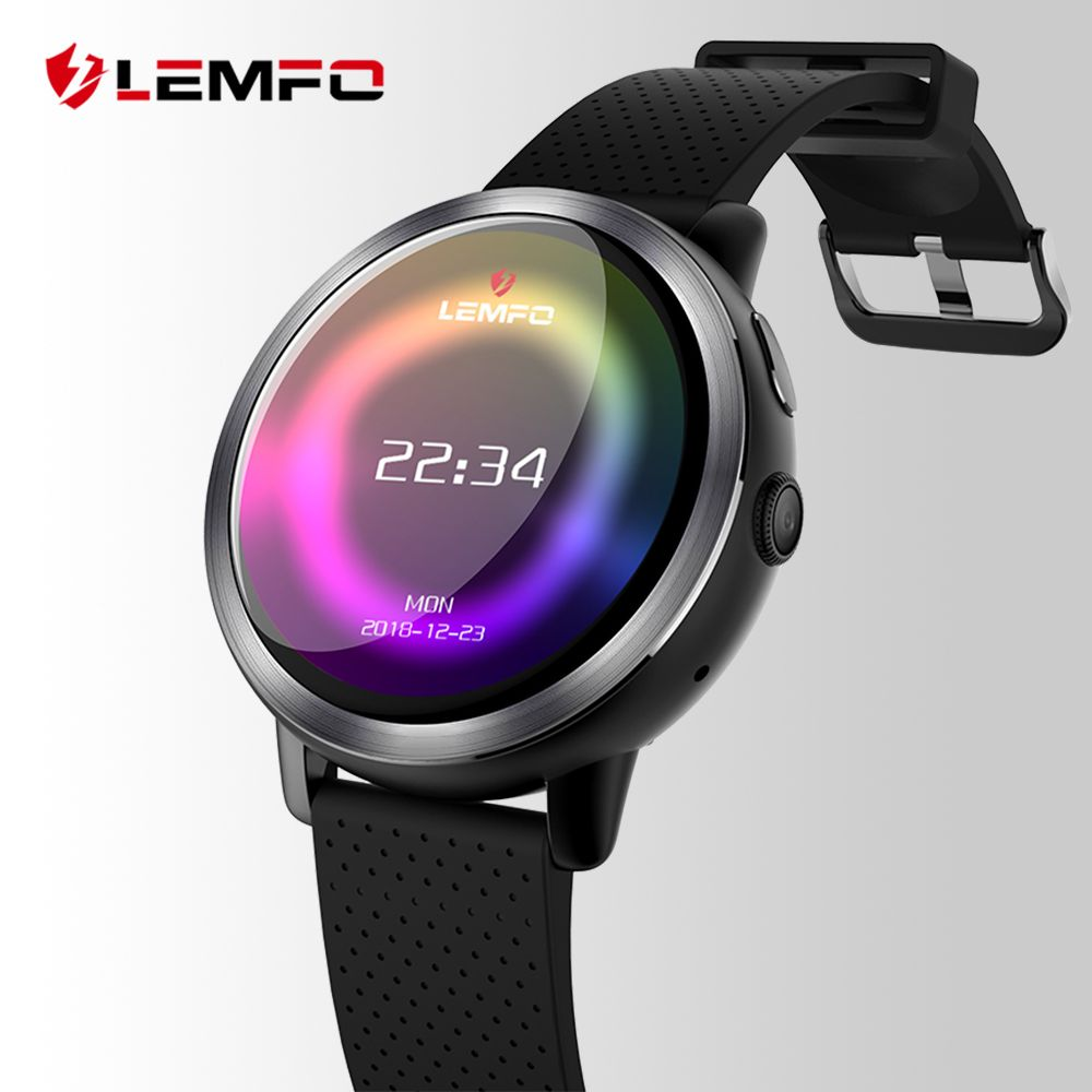 LEMFO LEM8 Luxury 4G Smart Watch Men Android 7.1.1 2GB + 16GB IP67 Waterproof 1.39 Inch AMOLED Screen 580Mah Battery Smartwatch