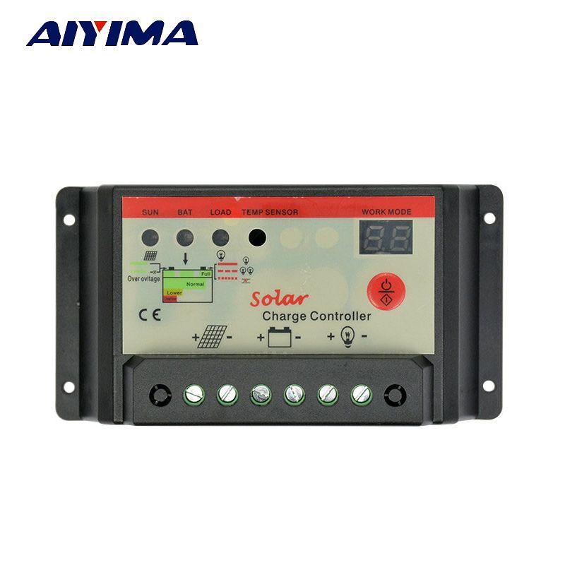 AIYIMA Flexible Panneau Solaire cellules Solaire chargeur de batterie contrôleur 12 V 24 V 30A contrôleur Panneau Solaire régulateur de commutation