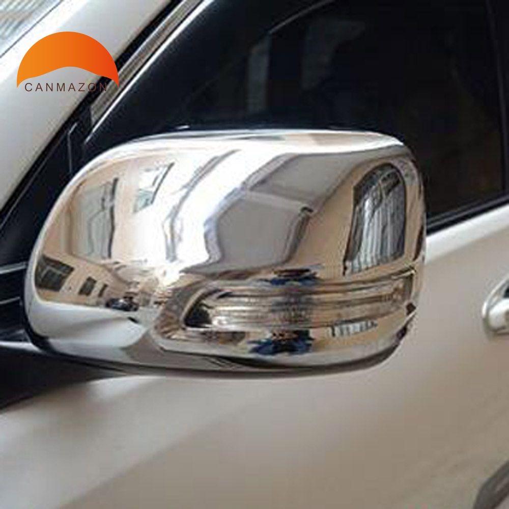 For Toyota 2700 FJ120 J 120 J120 Prado 2003-2009 ABS Chrome LED Turn Light Rearview Mirror Cover Cap Trim Car Accessories 2pcs