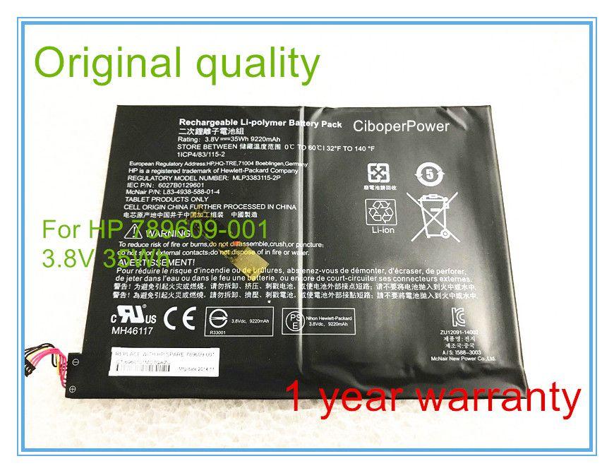 Original-akku für X2 10-K010NR Batterie 3,8 V 35Wh 789609-001 9220 mAh C1-Z1-c17