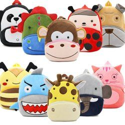 2018 Cartoon Kids Plush Backpacks Mini Kindergarten schoolbag Plush Animal Backpack Children School Bags Girls Boys Backpack