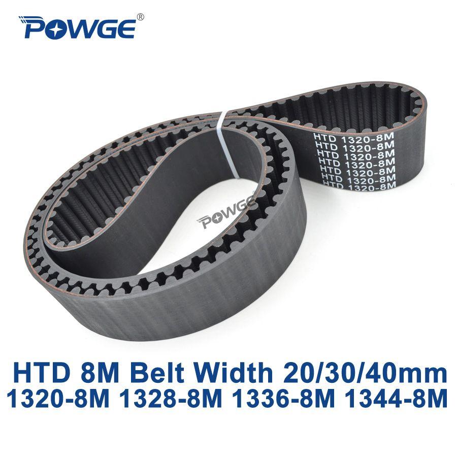 POWGE HTD 8 Mt synchron zahnriemen C = 1320/1328/1336/1344 breite 20/30/40mm Zähne 165 166 167 168 HTD8M 1320-8 Mt 1328-8 Mt 1344-8 Mt