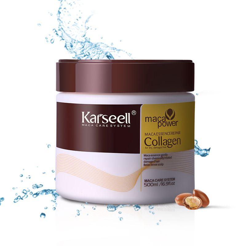 Keratin Treatment Steam Hair Mask 500ml Argan Oil Repair Damaged Split Ends Restore Smooth All Types Hair & Scalp Care Product