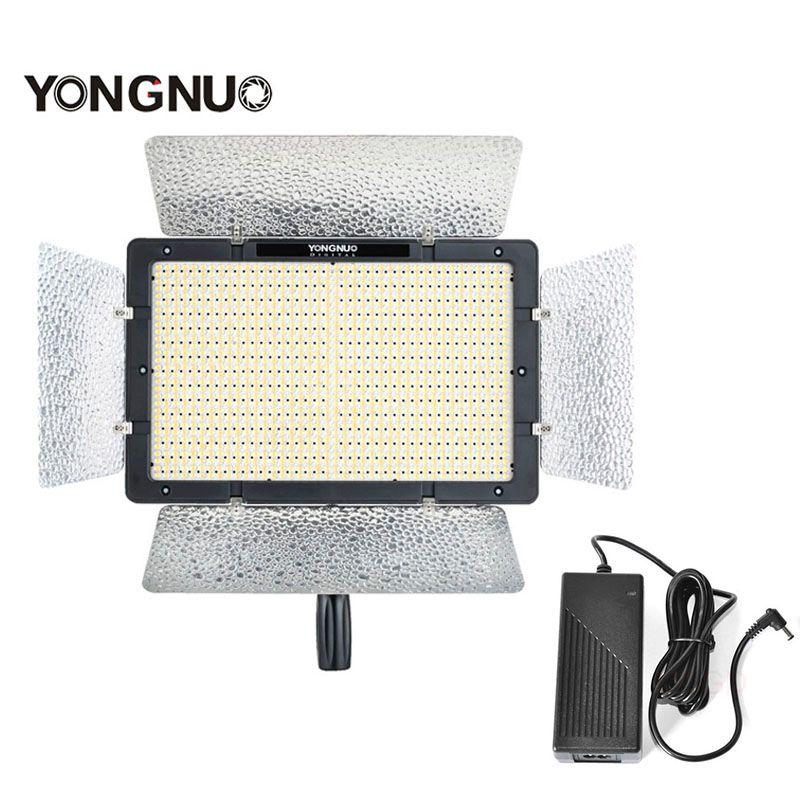 YONGNUO YN1200 + AC DC Netzteil Intelligentized Led-videoleuchte Ultradünne Großen Panel CRI95 + 3200 Karat-5500 Karat APP Senden Halterung