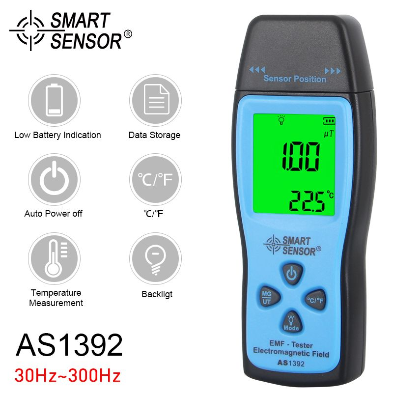 Digital EMF Tester Radiation Dosimeter Portable Handheld LCD Electromagnetic Field Radiation Detector Radiation Meter Counter