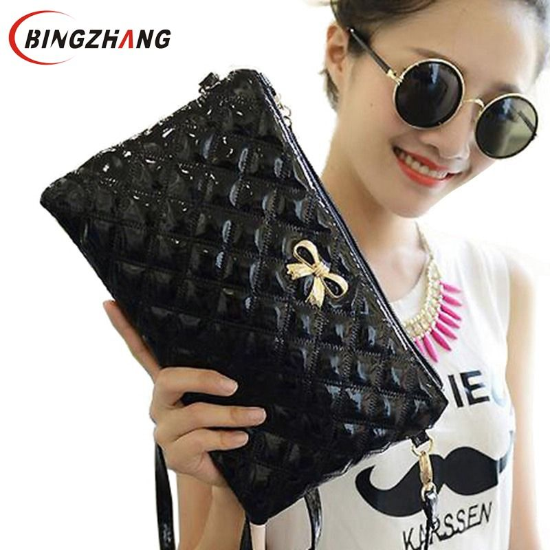 2018 New Handbag women clutch Shoulder Diagonal Three Purpose Butterfly Spiraea Lingge Bag bow clutch bag L4-698