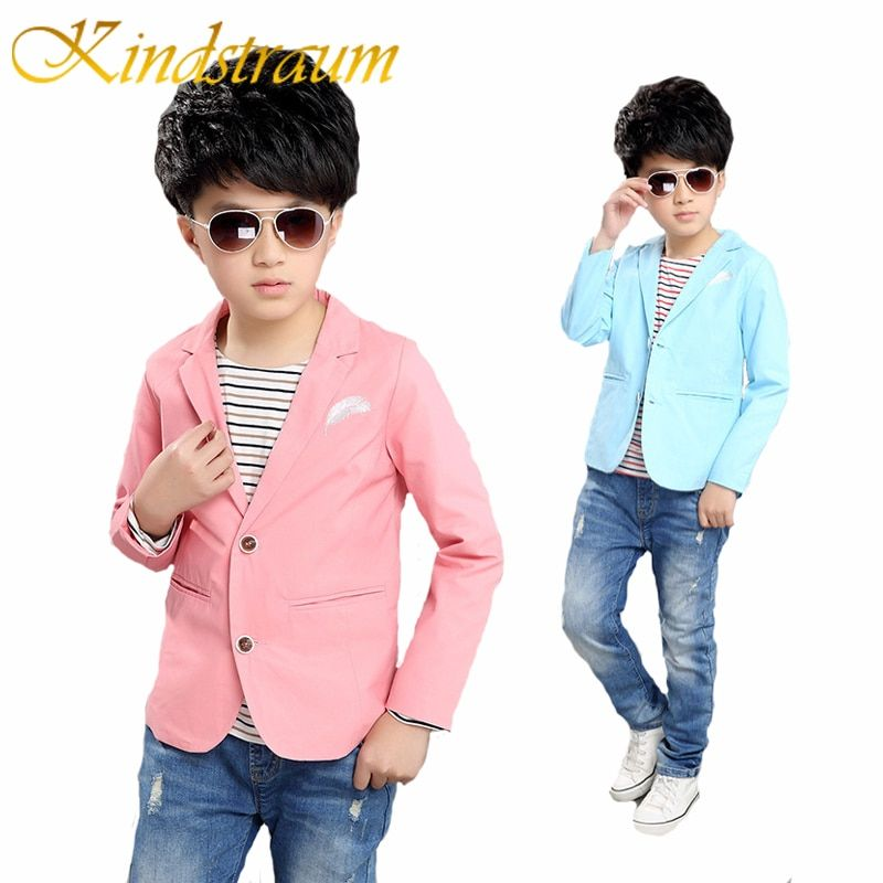 Kindstraum New Children Casual Blazers Boys <font><b>Party</b></font> Wedding Outwear Brand Solid Kids Cotton Suits Blazer Formal Jacket, MC724