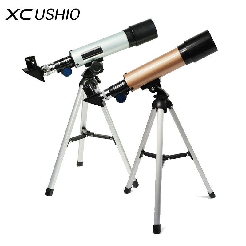 F36050M Outdoor Monocular Space Astronomical Telescope With Portable Tripod Spotting Scope 360/50mm <font><b>telescopic</b></font> Telescope