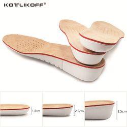 Kotlikoff altura aumentar la plantilla cerdo de Eva plantillas gel plantillas pie plano silicona soles gel ortopédico Shoe pad elevación aumento
