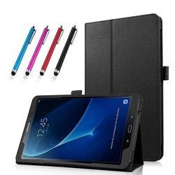 Pour Samsung Galaxy Tab A6 10.1 T580 Cas Couverture Litchi Motif livre Flip Folio PU Étui En Cuir pour Samsung Tab a6 10.1