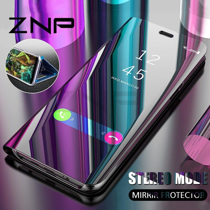 ZNP Luxury Flip Stand Smart View Case For Samsung Galaxy S9 S8 Plus Note 8 Phone Cover Case For Samsung S6 S7 Edge S8 Case Shell