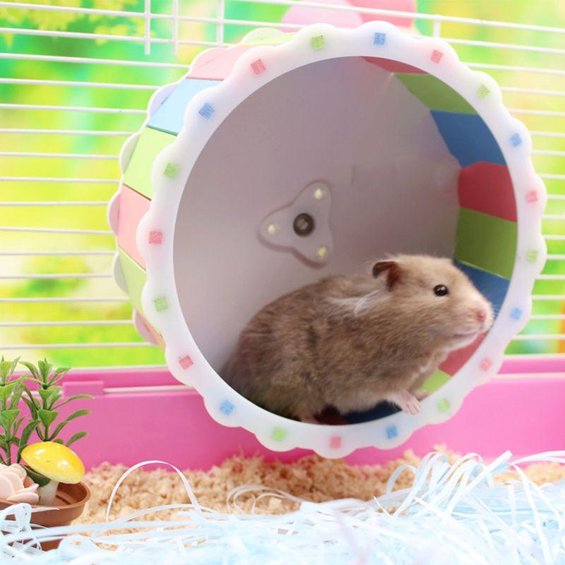 Silent роликовые хомяк игрушки Mute Бег колеса сирийского хомяка колесо хомяка поставки Бесплатная доставка