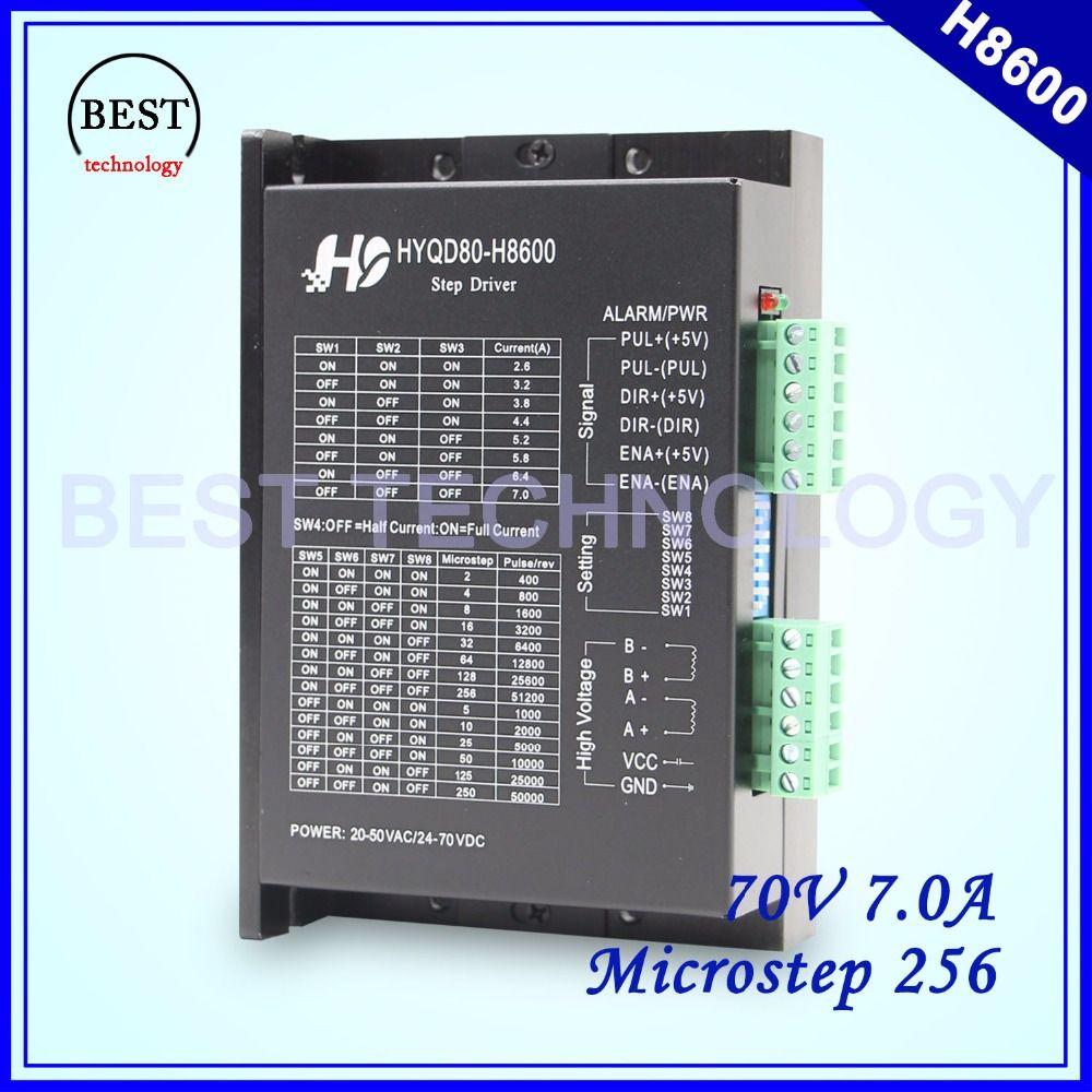 Schrittmotortreiber H8600 2,6-7A 24 V-70 V DC Mikro 256 motor fahrer statt MA860H für NEMA23 NEMA34 schrittmotor!