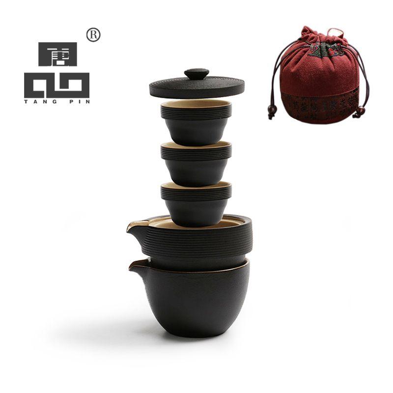 TANGPIN japanese teapot ceramic kettle gaiwan tea cups portable travel office tea set