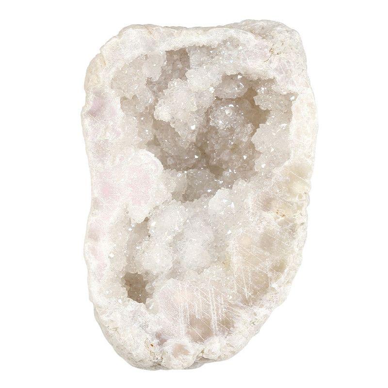 1x Brut Naturel Titane Rock Enduit Cluster Cristal De Quartz Druzy Geode Spécimen Décor-0.28lb-0.35lb Collection Pierres Avec boîte