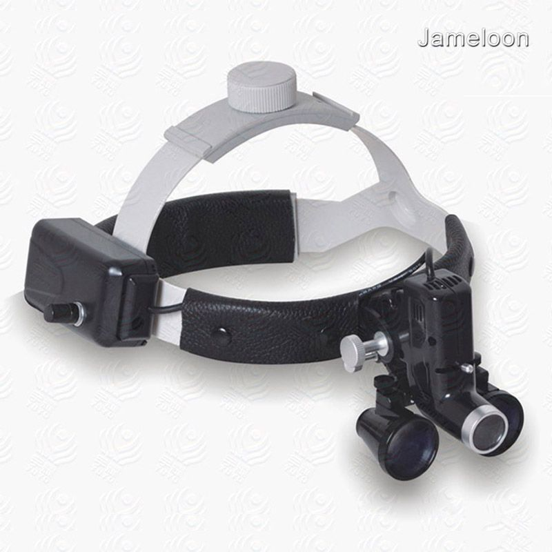 3.5X surgical medical magnifier high intensity led light dental headlight headlamp magnifying lens ENT surgery operation loupe