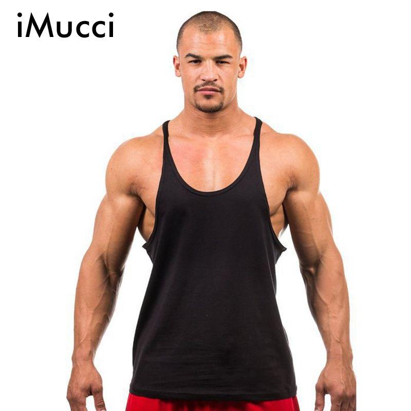IMucci China Post Air Mail Verschiffen Golds Stringer Tank Top Männer Bodybuilding Fitness Herren Westen Baumwolle Muscle Singuletts