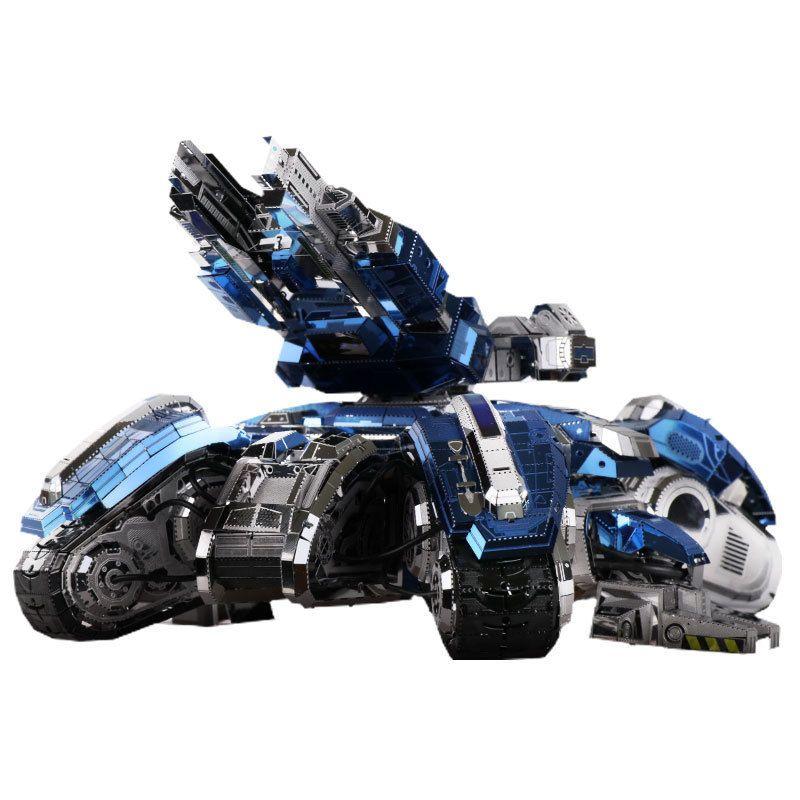 MU 3D métal Puzzle siège réservoir Joint mobile modèle bricolage 3D Laser Cut assembler Puzzle jouets de bureau décoration cadeau pour l'audit