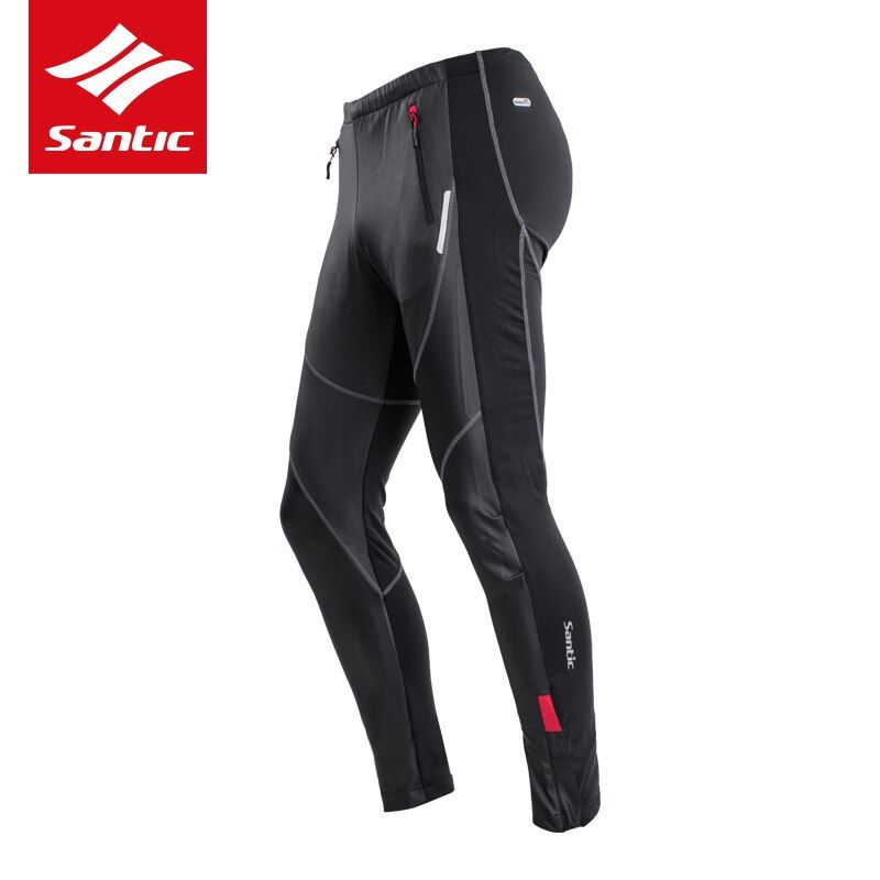 SANTIC Winter Hiking Pants Warm Cotton Running Training Sports Pants Fleece Men Sweat Windproof Waterproof Trousers Padded Pant