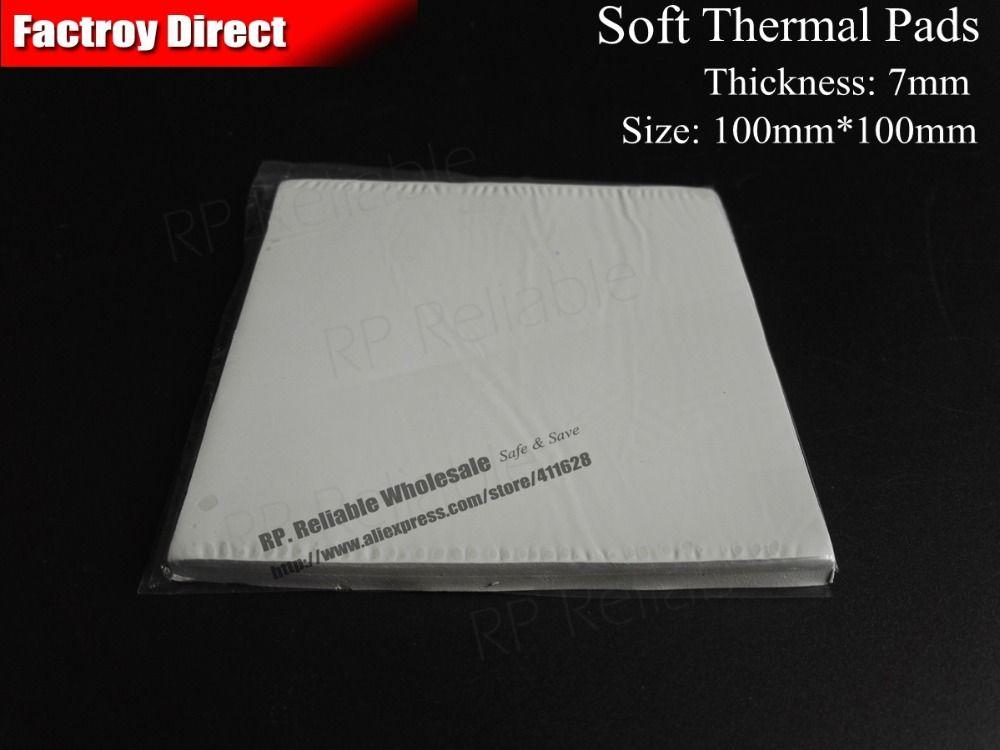 1 pcs 7mm Épais, 100mm x 100mm Minuscule Visqueux Doux Silicone Chaleur Des Plots Conducteurs Joint-RP Fiable