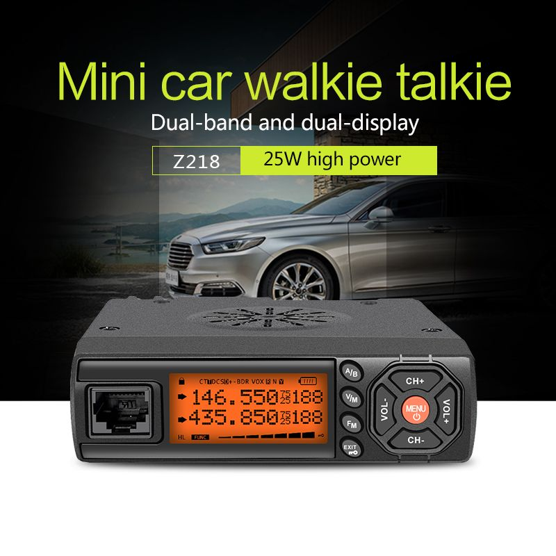 Zastone Car Walkie Talkie VHF UHF Mini Mobile Radio HF Transceiver Two Way Ham Radio For Hunting Radio Station