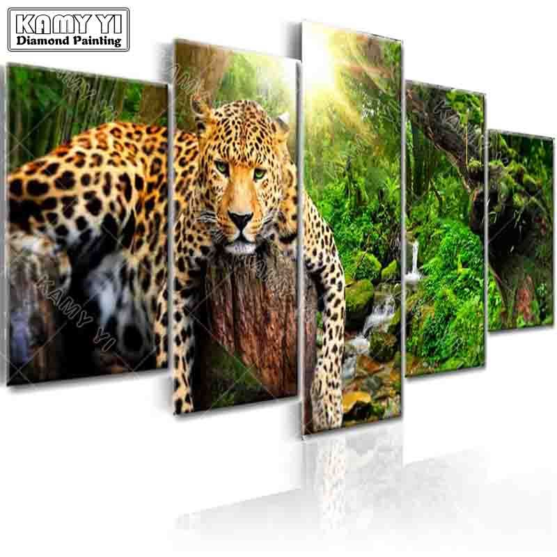 full square drill Diamond embroidery Forest tiger 5D DIY diamond painting Cross Stitch Multi-picture home decoration