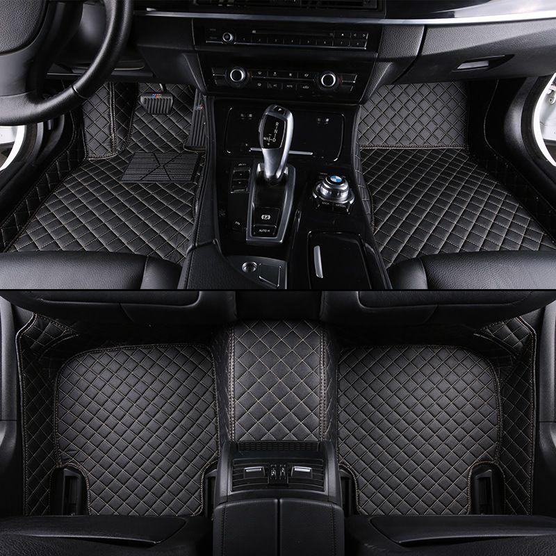 Kalaisike Custom car fußmatten für Land Rover Alle Modelle Rover Range Evoque Sport Freelander Entdeckung 3 4 auto styling