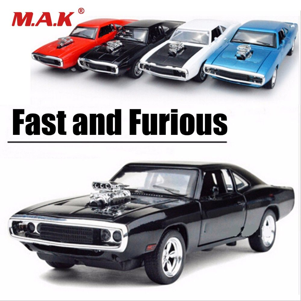 1:32 Échelle Fast and Furious voitures miniatures à échelle 1970 Dodge Charger Modèle Voiture Jouet En Alliage Voitures Moulé Sous Pression jouets pour garçon Enfants cadeau