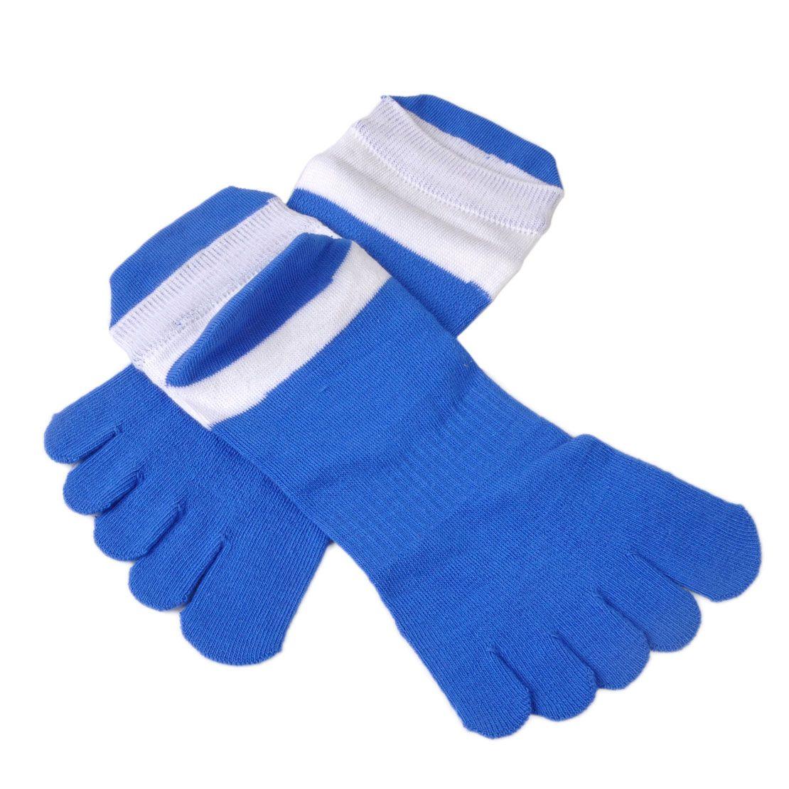 5 paires/lot coloré Respirer En Pur Coton Pour Hommes Cinq Doigts Chaussettes décontracté Respirant Calcetines Cheville Chaussettes pour EU 40-46 Orteil