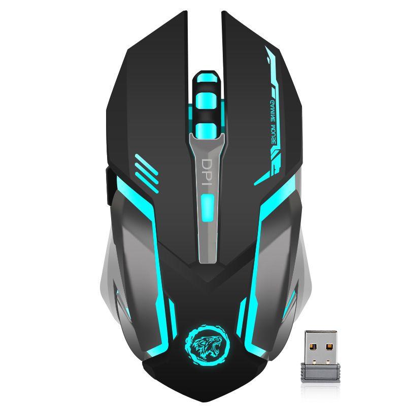 Rechargeable Sans Fil Gaming Mouse 7 couleur Rétro-Éclairage Respiration Confort Gamer Souris pour Ordinateur De Bureau D'ordinateur Portable PC pour Pro Gamer