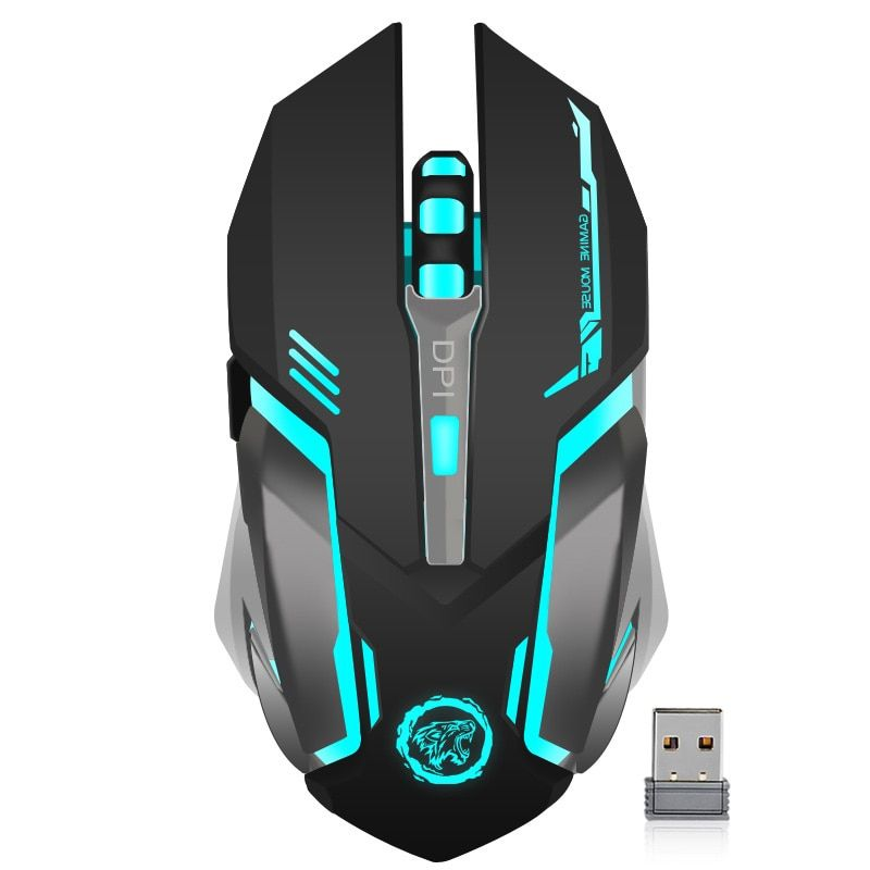 Rechargeable Wireless Gaming Mouse 7 color <font><b>Backlight</b></font> Breathing Comfort Gamer Mice for Computer Desktop Laptop PC for Pro Gamer