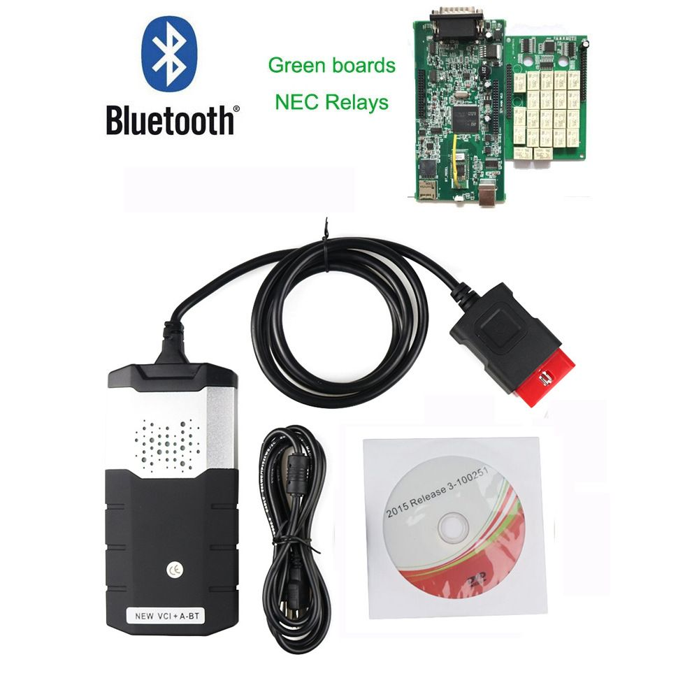 For delphi ds150e TCS CDP pro 2015R3 with activator Bluetooth diagnostic tool tester universal professional detector auto truck