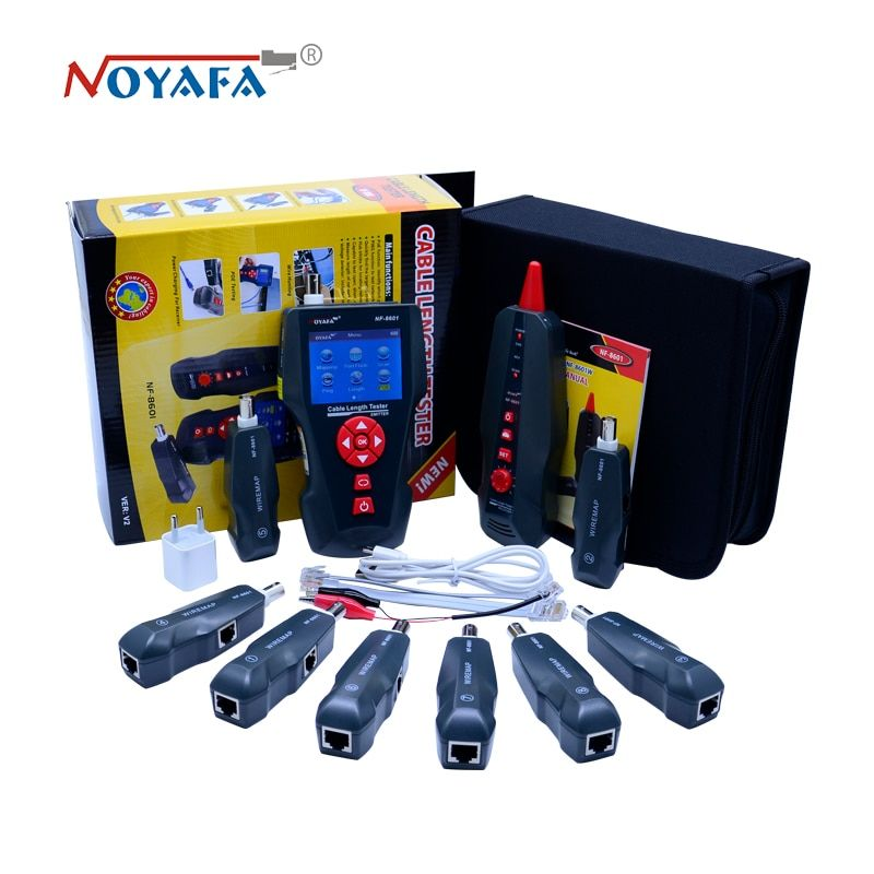 New NF-8601W Multi-functional Network Cable Tester LCD Cable length Tester Breakpoint Tester English <font><b>version</b></font>