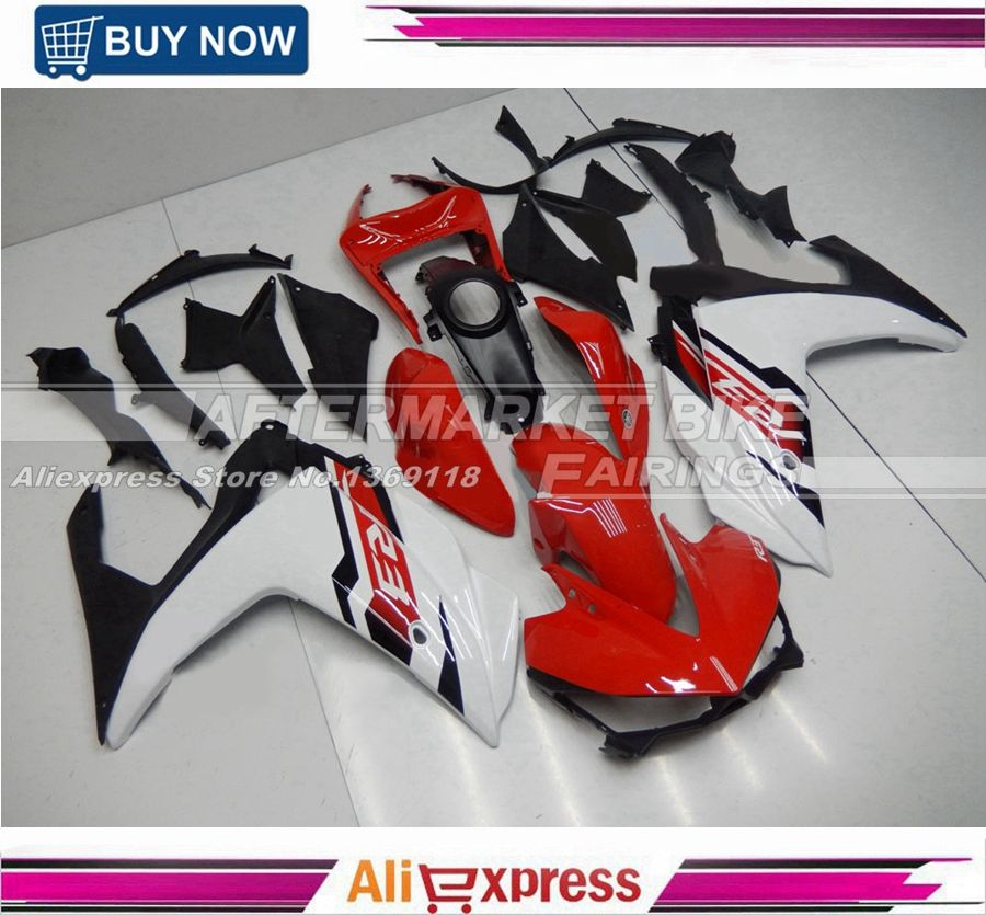 Complete Motorcycle Fairings For Yamaha R25 R3 15 16 Year 2015 2016 ABS Plastic Injection Fairing Kit Rapid-Red-and-Pearl-White