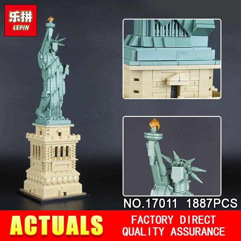 New Lepin 17011 Architecture Toys The 21042 State of Liberty Set Building Bricks Blocks Funny for Kids Toys Birthday Christmas