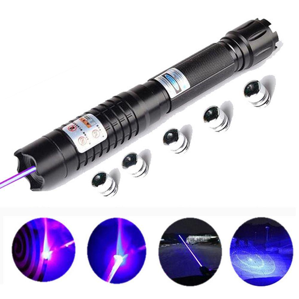Mächtigsten Brennen Blauen Laser-fackel 445nm 10000 mt Fokussierbar laser-augen-Pointer Taschenlampe brennen spiel kerze brennende zigarette