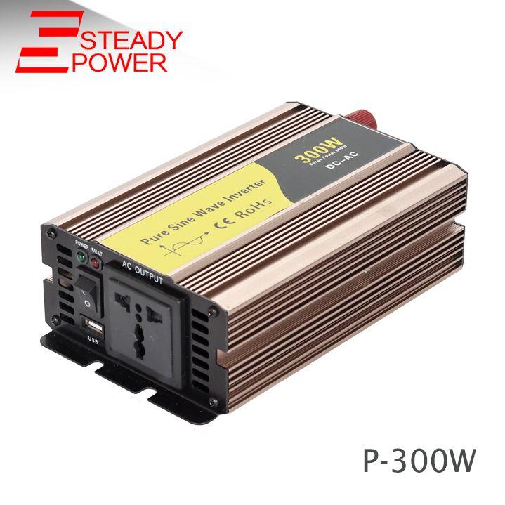 Professional manufacturer off grid inverter 220v 300w 12v 24v 60hz 50hz pure sine wave inverter / converter
