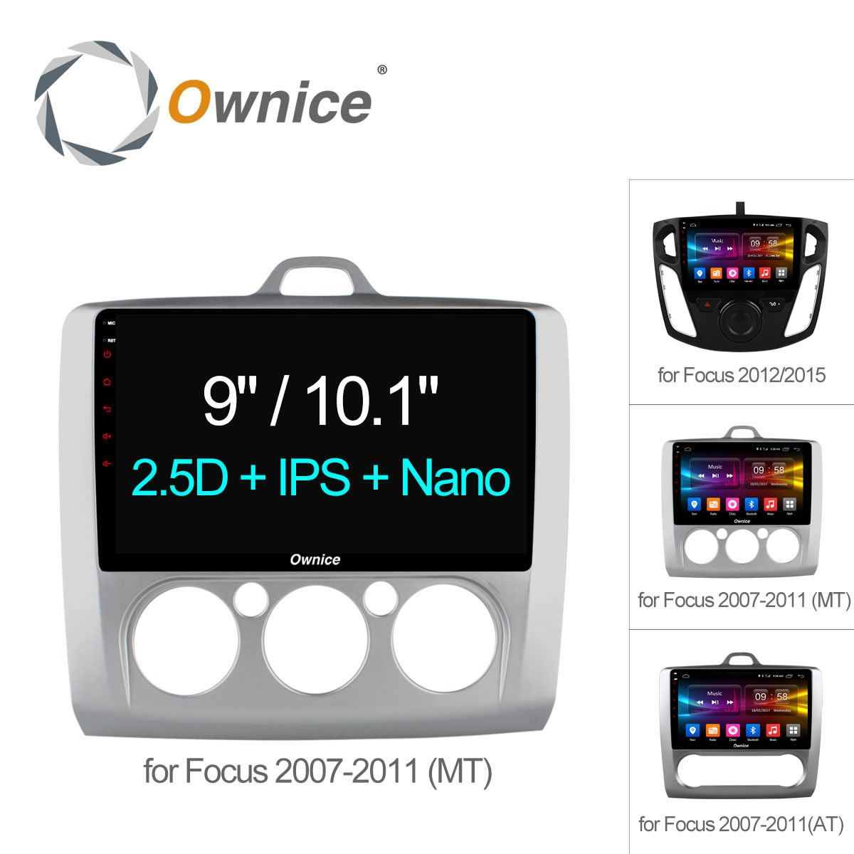 Ownice C500+ Octa 8 Core Android 6.0 Car Radio 2Din DVD player GPS Navi 2G+32G For Ford Focus 2007 - 2012 2015 Support 4G SIM