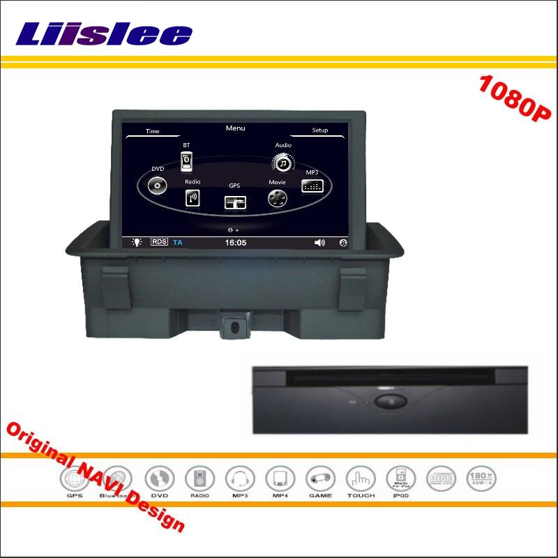 Liislee For Audi A1 2011~2015 Car Stereo Radio CD DVD Player GPS Nav Navi Navigation 1080P HD Screen System Original NAVI Design