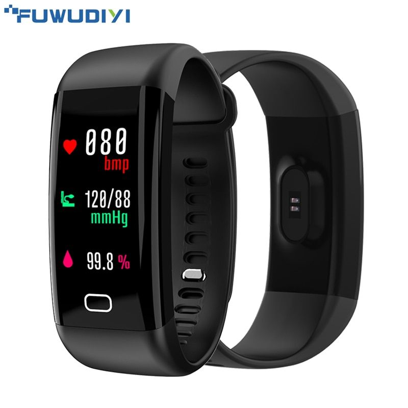 FUWUDIYI F07 Fitness Tracker Bracelet OLED Color Step Counter Smart Band Alarm Heart Rate Blood Pressure Monitor Smart Wristband