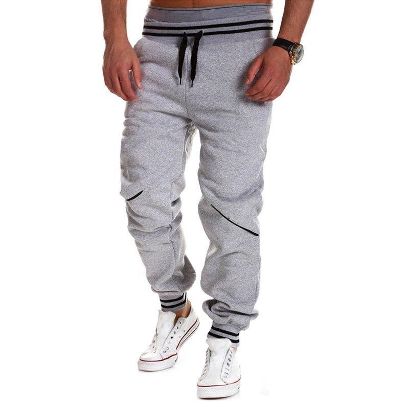 Plus Size Fashion Mens Joggers Pants 2018 New Elastic Waist Cotton Sweatpants Male Casual Loose Long Trousers Pantalon Homme