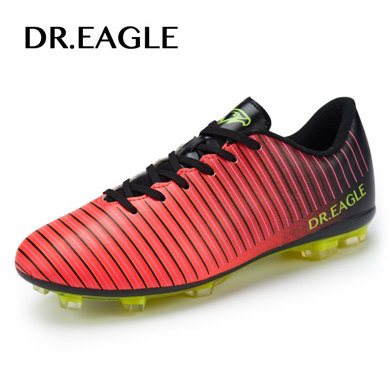 DR.EAGLE Adult Men Outdoor SOCCER SHOES cleats spike football boots man Professional FG/AG superfly football sneakers boot 38-45
