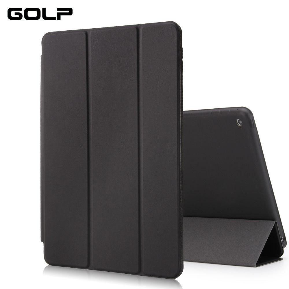 Pour étui ipad air 2, cuir PU GOLP pour couverture ipad air 2, couverture intelligente pour ipad 6, étui à rabat et couverture arrière pour apple ipad air2