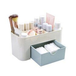 Organizador de maquillaje de plástico uñas cosméticos cepillo Organzier joyería organizador de almacenamiento maquillaje organizador almacenamiento dropshipping