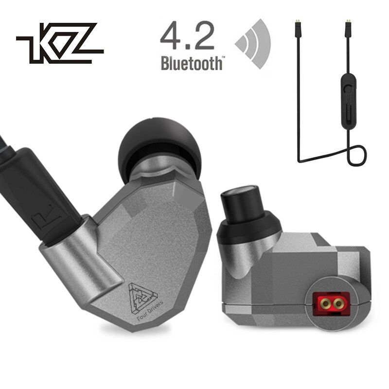KZ ZS5 Bluetooth Kopfhörer Drahtlose Sport Noise Cancelling-kopfhörer Verstärker mit Mic Schwere Bass Hohe Qualität für Jungen für Samsung